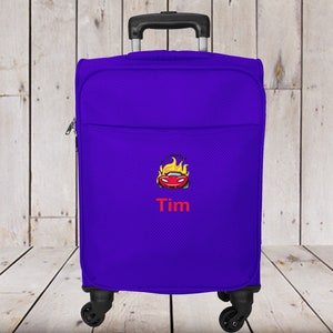 Kids 2 Wheel Carry-on Luggage Personalized with Airplane Embroidery