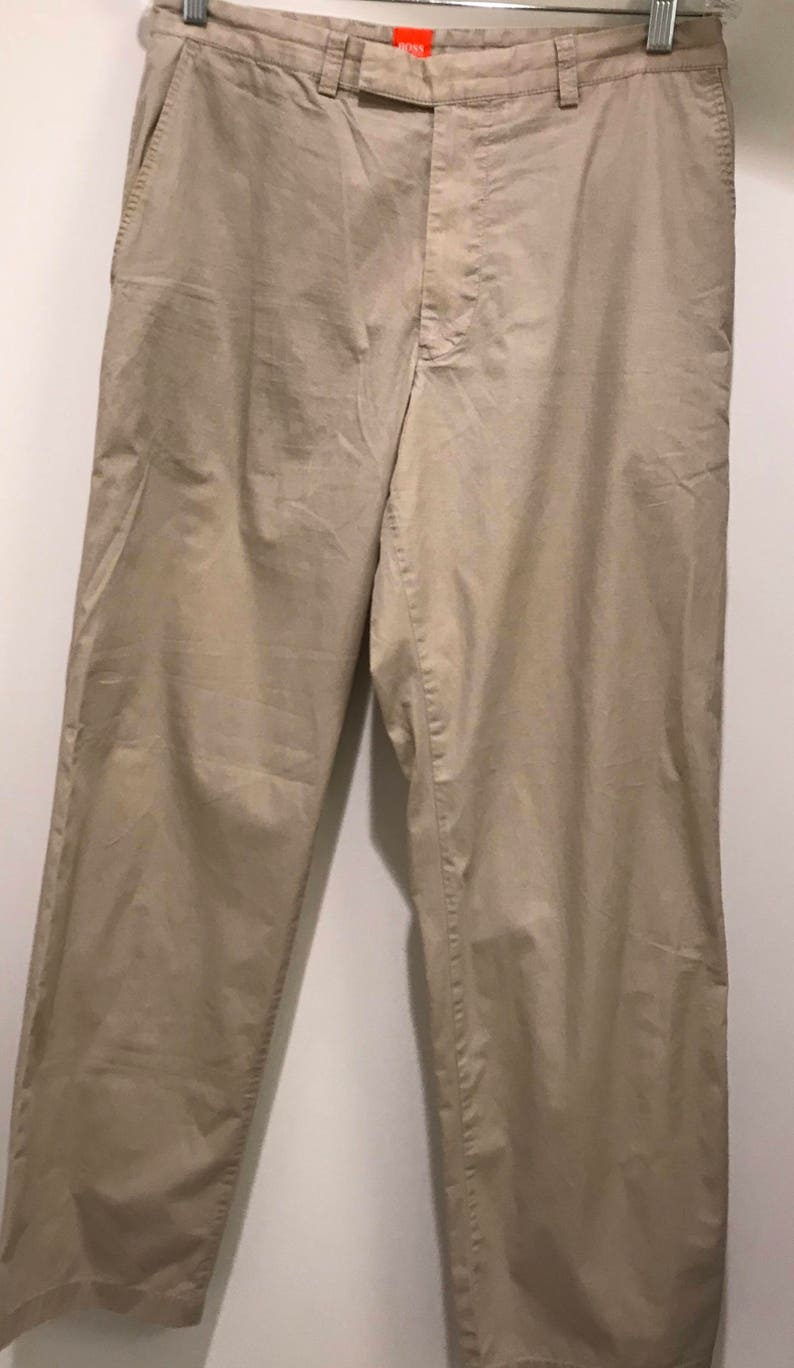 63dd30a0da Vintage pantalon kaki pour homme de Hugo Boss Orange Label | Etsy