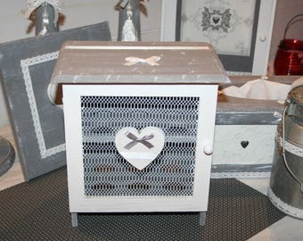 grey and white eggs personalized heart box