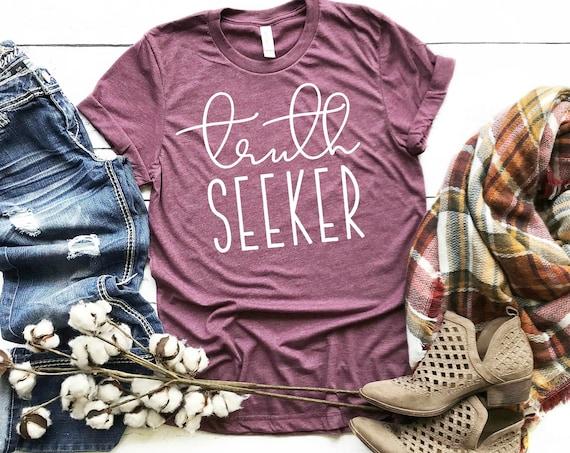 Truth Seeker T-shirt, Inspirational Tshirt, Shirts with Sayings, Shirts for Women, Shirts SVG, Inspirational T-shirt SVG, T-Shirt Design