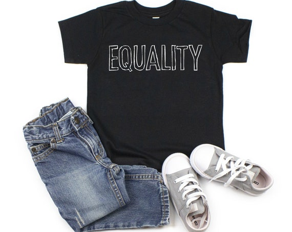 Equality T Shirt, Social Justice T Shirts for Kids