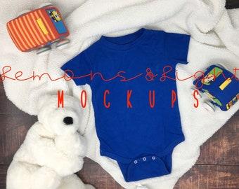 acf434a941 Rabbit Skins Infant Bodysuit Royal Blue 4480 Mockup