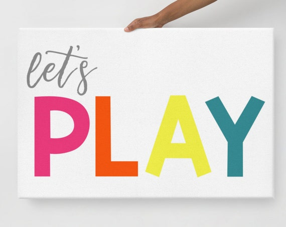 Let's Play Wall Art Canvas