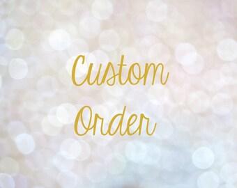 Custom Order, Personalization Add On
