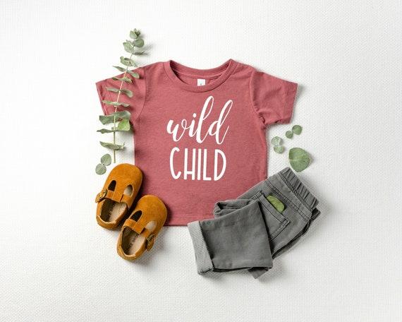 Wild Child Baby T Shirt, Baby Tee, Infant T Shirt, Baby Girl Clothes, Wild Child Shirt, Baby Girl Outfits