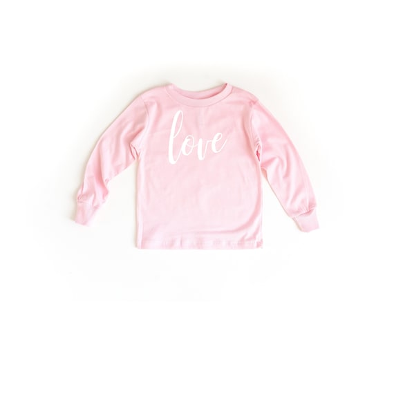 Love Pink Long Sleeve Toddler Shirt