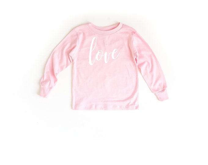 Love Pink Long Sleeve Toddler Shirt