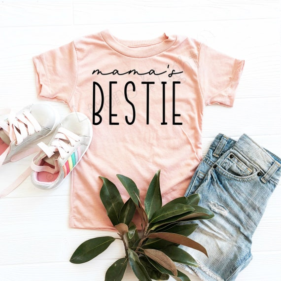 Mamas Bestie Shirt, Mommys Girl, Mamas BFF, Toddler Triblend Short-Sleeve T-Shirt, Soft Tees, Mommy and Me, Toddlers Tees, Mommys Bestfriend
