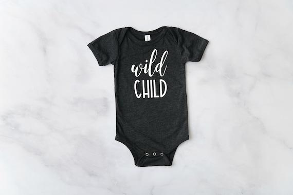 Wild Child Baby Bodysuit, Funny Baby Bodysuit, Infant Bodysuit, Baby Girl Clothes, Wild Child Shirt, Baby Girl Outfits