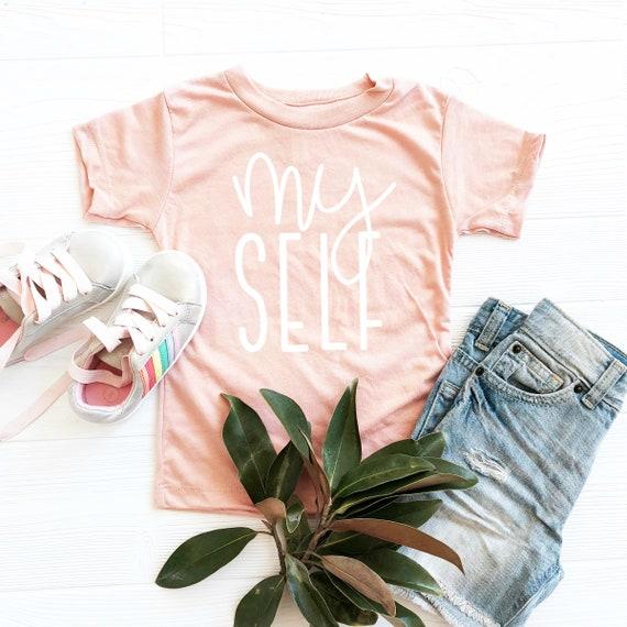 Myself Shirt, Myself Child Tee, Kids T-Shirt, Kids Girl Clothes, Kids Shirts with Sayings, Youth Shirts