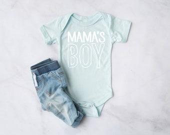 Mama's Boy Infant Bodysuit   Baby Clothes   Infant Clothes   Baby Shower Gift   Infant Short Sleeve Bodysuit
