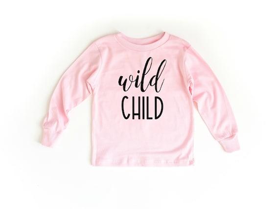 Wild Child Shirt, Wild Child Tee, Toddler T-Shirt, Toddler Girl Clothes, Toddlers Tees Toddler Shirts with Sayings, 2T girls, 5T girls