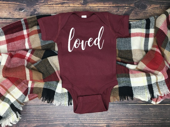 Loved Infant Bodysuit, Loved Shirt, Baby Shower Gifts, Baby Girl, Baby Gift, Baby Girl Clothes, Soft Baby Bodysuits, Newborn Baby Girl