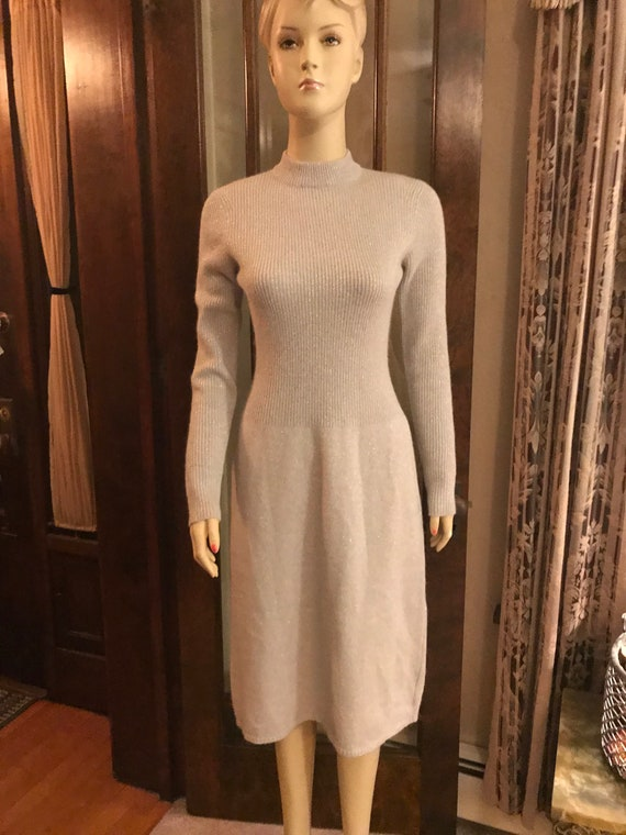 Vintage Anne Fogarty Knits Label Sweater Dress