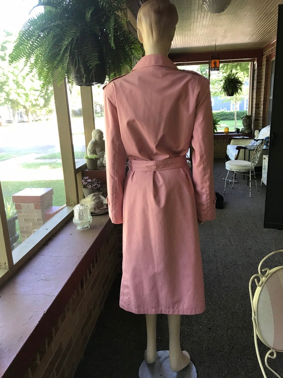 Vintage Pink Trench Coat - image 6