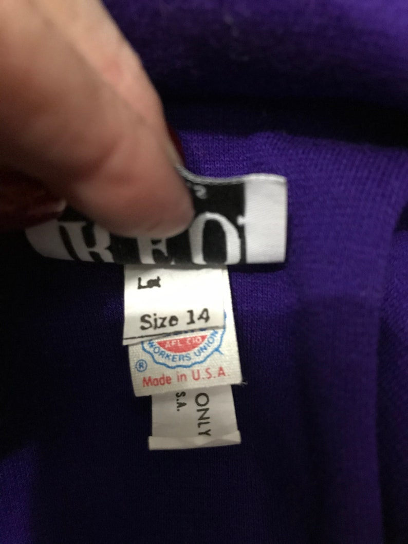 Dead stock R.E.O Originals Royal Purple 80\u2019s dress
