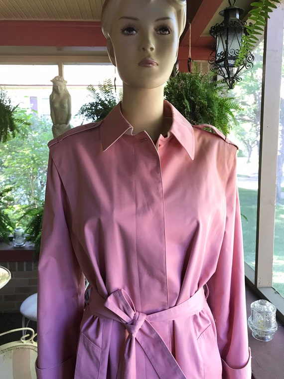 Vintage Pink Trench Coat - image 1