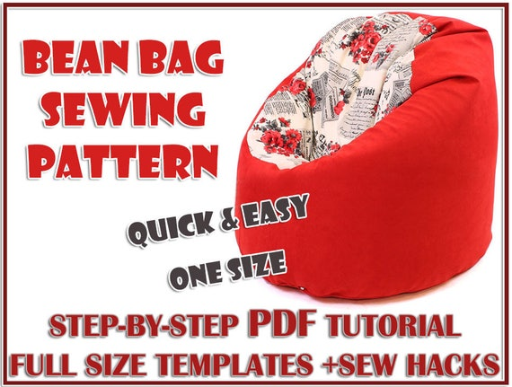 Swell Easy Bean Bag Cover Sewing Pattern Bean Bag Pattern Pdf 3 Details Full Size Template Baby Floor Cushion Teen Toddler Adult Kid Beanbag Chair Gmtry Best Dining Table And Chair Ideas Images Gmtryco