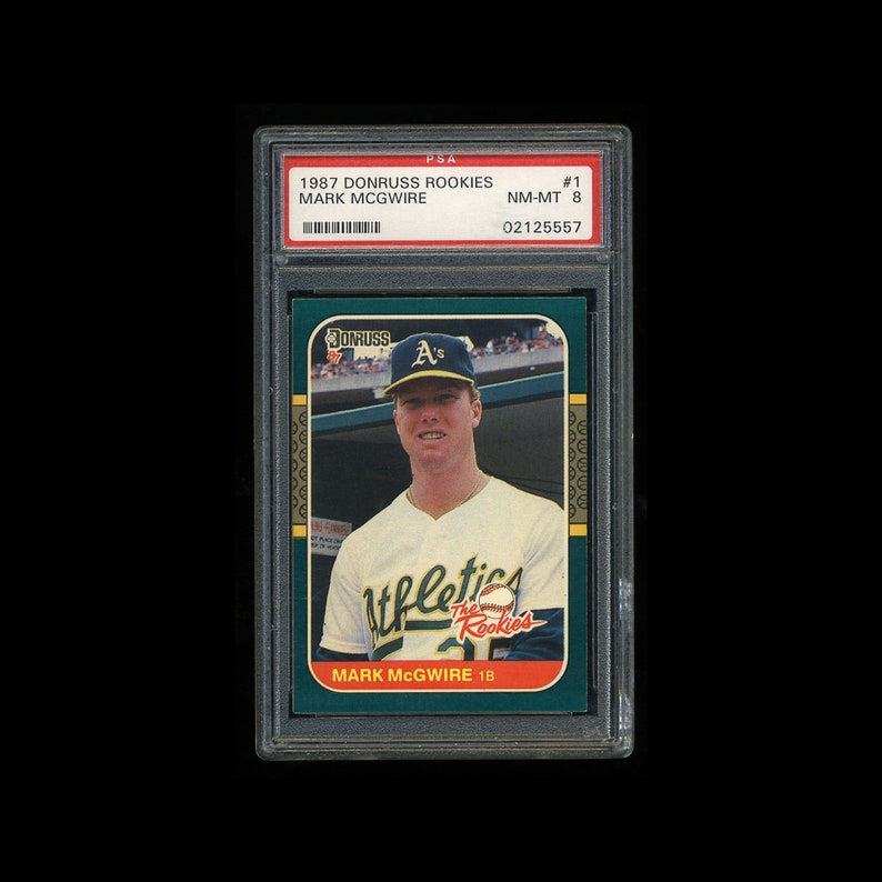 Psa 8 Mark Mcgwire Rookie Graded Nmmt 1987 Donruss Rookies Baseball Card Oakland As Athletics St Louis Cardinals Future Hall Of Fame