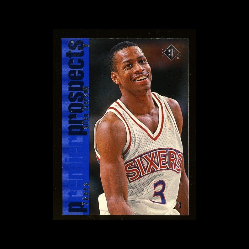san francisco 018c5 18716 Allen Iverson Rookie Card - 1996 Upper Deck SP in Mint Condition -  Philadelphia 76ers