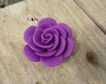 Purple flower Camellia 40 beads