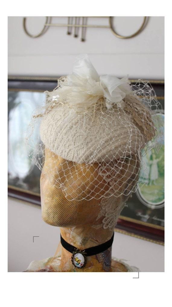 Vintage pillbox cocktail hat