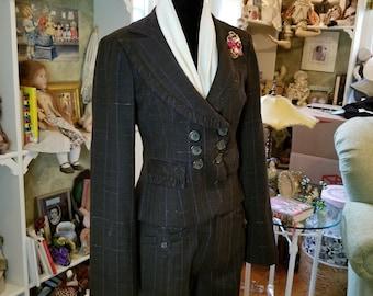 Nanette Lepore: Pin Stripe Suit!