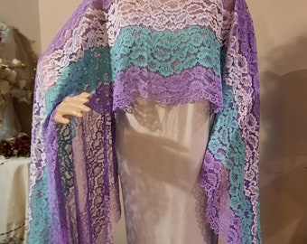 Gorgeous Corded Lace Capelet, Bridal capelets, Shawl, Shoulder Shrug, Bolero, Capes, Bridal Coverup