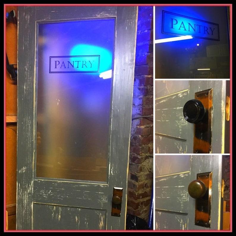 Custom Pantry Door, Glass Pantry Door, Kitchen Pantry Door, Frosted Glass  Door, Vintage Pantry Door, Kitchen Door, Kitchen Item, Custom Door