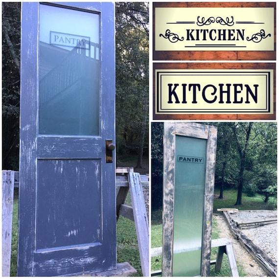 Custom Vintage Kitchen Door Custom Pantry Door Glass Pantry Etsy