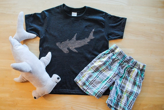 Hammerhead Shark Shirt Toddler Shirt Youth Shirt Kid's Etsy Gorgeous Bleach Dye Shirt Patterns