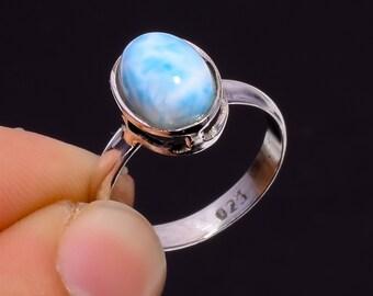 Gorgeous Labradorite Gemstone Ethnic Jewelry 925 Sterling Silver Ring 5.25 US
