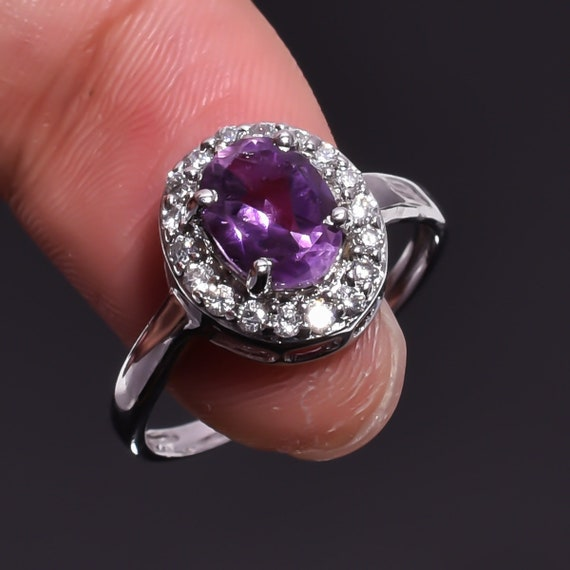 Aquamarine Ring Superb Aquamarine Rough Gemstone Ethnic Style 925 Sterling Silver Ring 5.25 US