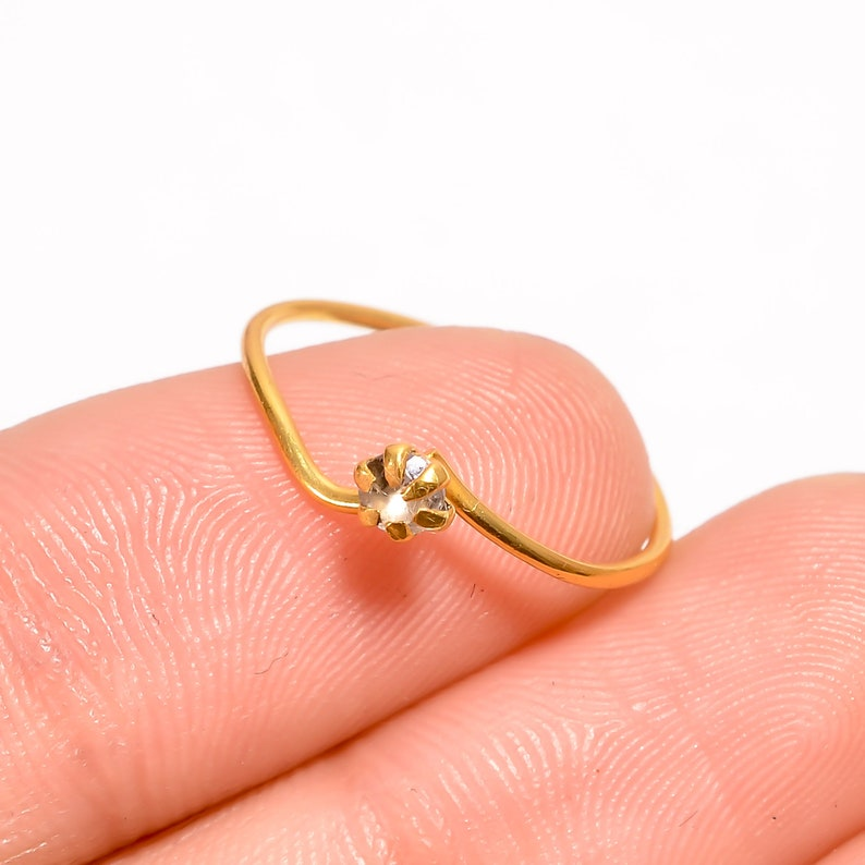 Aquamarine Ring Natural Aquamarine Round Shape Gemstone Handmade Jewelry 925 Sterling Gold Plated Ring Handmade Ring Jewelry