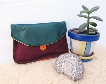 """Leather clutch """"Georgette put everything away"""""""