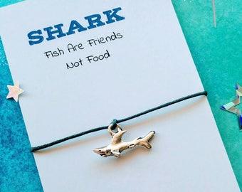 Shark Charm Bracelet, Handmade Shark Wish Bracelet - Finding Nemo Bracelet