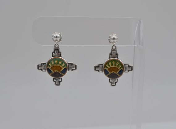 Beautiful Relios Jewelry Co, Carolyn Pollack Southwestern Sterling Silver Mountain and Sun Dangle Earrings
