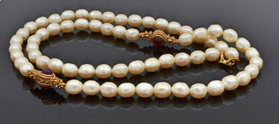 Rare Find! Vintage 1960's Givenchy Faux Pearl and… - image 2