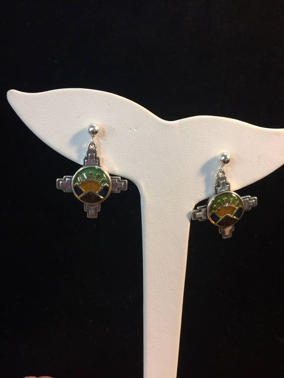 Beautiful Vintage Carolyn Pollack Southwest Earrings