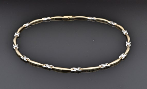 Preowned 14k Yellow & White Gold Infinity Choker Necklace by Aurafin