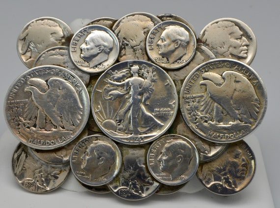 Vintage U.S Silver Coin & Buffalo Coin Belt Buckle