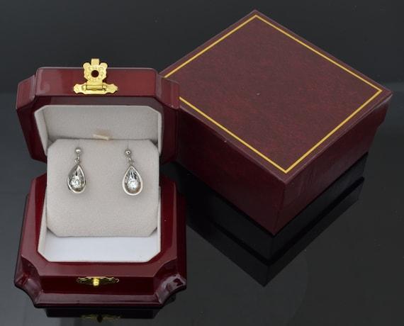 Gorgous Vintage 14kt White Gold !.00ctw Diamond Dangle Drop Earrings