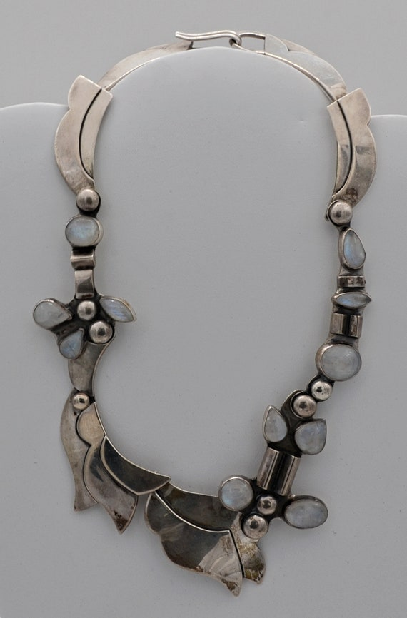 RARE! Anne Forbes Post Modernist Sterling Silver Necklace