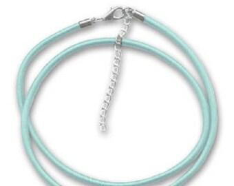 2 necklaces silk blue Choker