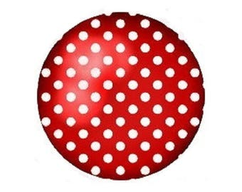 18mm, white dots on Red