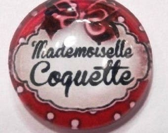 mademoiselle coquette red 20mm cabochon