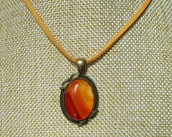necklace with a striped agate