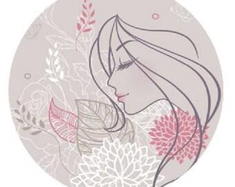 23 mm, femme et fleurs