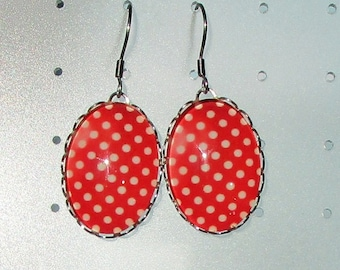 delicious white polka dots on Red