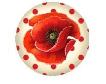 cabochon 18mm pretty poppy